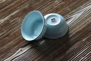 純手工龍泉青瓷功夫茶小杯子