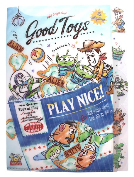 【卡漫城】 玩具總動員 五層 資料夾 餅乾袋 ㊣版 手繪 L字型 L夾 A4 文件夾 檔案夾 Toy Story 卡通