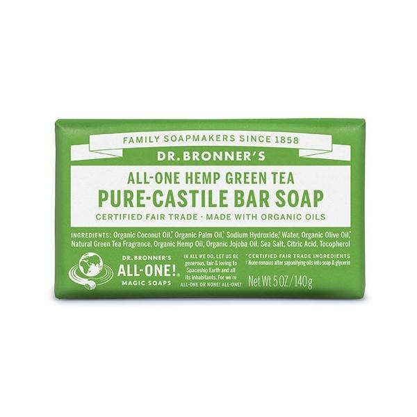 DR.BRONNER'S【布朗博士】綠茶潔膚皂(5OZ/140G)
