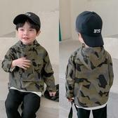 男童外套 兒童外套男童時髦帥氣小童防風上衣工裝風寶寶迷彩色沖鋒衣-米蘭街頭