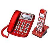 SANLUX 台灣三洋 DCT-8917 2.4GHz 長距離子母機 (紅/銀) 買就送餐具組