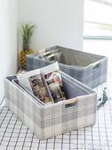 木柄提手布藝收納筐玩具衣物整理儲物箱桌面零食雜物框收納盒 茱莉亞嚴選