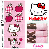 Kitty 純棉 毛巾 凱蒂貓愛紅蘋果款 三麗鷗 台灣製