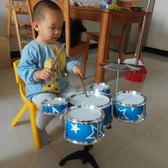 兒童架子鼓初學者練習鼓仿真爵士鼓樂器音樂玩具鐳射五鼓1-2-3歲 MBS 英雄聯盟