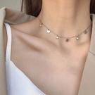 韓國時尚風格項鍊網紅ins愛心水鑽項鍊72656