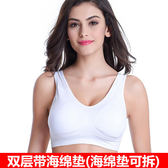 新年鉅惠 薄款一片式無痕無鋼圈跑步運動睡眠文胸背心式內衣胸罩媽媽大碼女