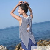 運動背心女無袖網孔透氣速幹健身衣服寬鬆大碼健身房跑步瑜伽  母親節特惠