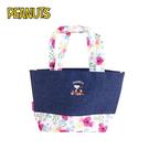 【日本正版】史努比 丹寧風 手提袋 便當袋 Snoopy PEANUTS - 419601