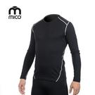 mico 男圓領美麗諾羊毛保暖上衣 IN3700 / 城市綠洲(登山、滑雪、運動、機能、排汗、快乾)