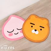 Kakao Friends臉型腳踏墊- Norns 台灣正版授權 Ryan萊恩 Apeach 桃子 防滑吸水地墊地毯 聖誕禮物
