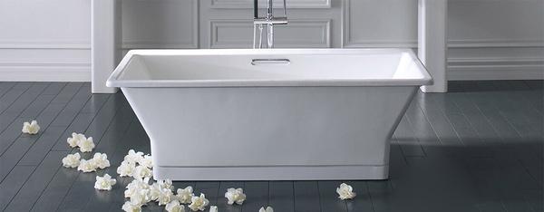 【麗室衛浴】美國 KOHLER REVE  獨立式鑄鐵浴缸 K-16497T  尺寸170x80x56cm