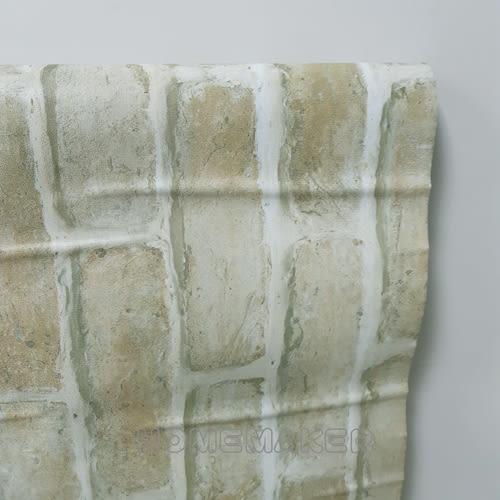 中國磚紋自黏壁紙 (土黃綠)_YT-M7113