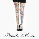 【摩達客】英國進口義大利製【Pamela Mann】Sugar Free歡樂藝術圖紋彈性褲襪 (60113083031)