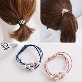 韓國簡約珍珠髮圈 髮飾 髮束 髮圈 珍珠 手飾 手鍊 【P0003】