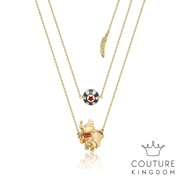 Couture Kingdom 迪士尼小飛象馬戲團 鍍14K金項鍊 Dumbo Circus Ball Necklace