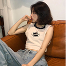 吊帶背心女夏外穿港風短款露臍無袖t恤學生韓版百搭內搭上衣ins潮 陽光好物
