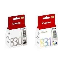 CCANON㊣原廠墨水匣PG-830 + CL-831(1黑1彩共2顆) 適用CANON iP1880/iP1980/MP145/MX308/MX318/MP198印表機PG830/CL831