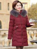 中老年棉衣女中長款2018新款媽媽羽絨棉服40歲50中年棉襖冬裝外套