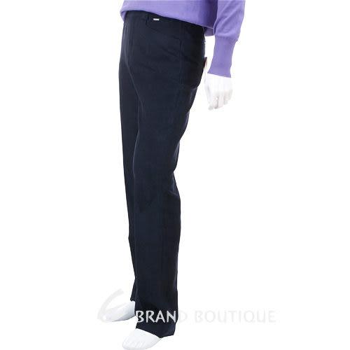 VERSACE 直筒絨質休閒長褲(深藍色) 0520406-23