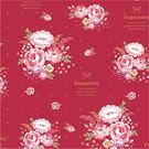 《荷包袋》包裝紙 古典花園(紅) 【30...