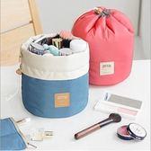 時尚指數化妝包小號便攜韓版圓筒束口式化妝包熱賣大容量收納包