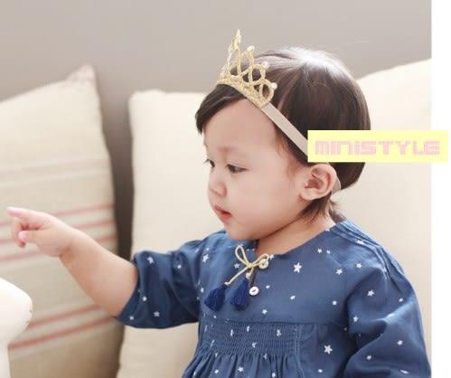 [24hr-快速出貨]  韓國 星星皇冠 髮帶 髮箍 公主 嬰兒 童 寶寶 頭飾 生日 新娘 花童