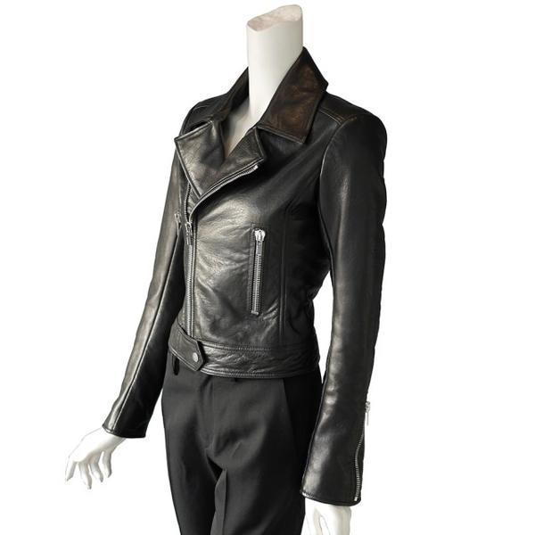 【BALENCIAGA】外皮夾克騎士風外套 (黑色)  374639 TCH99 1000