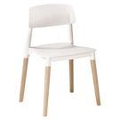 【森可家居】智喜白色餐椅 7ZX884-2 實木 北歐風 繽紛