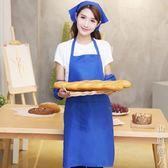 圍裙做飯廚房防水防污成人簡約服務員咖啡師畫畫廣告袖套 街頭潮人