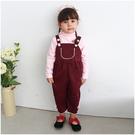 吊帶褲 素色 大口袋造型 連身衣 女寶寶 爬服 哈衣 Augelute Baby 52258