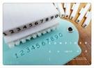 心動小羊^^壓克力數字日期章固定字型皂章積木活動章可接字可拆開