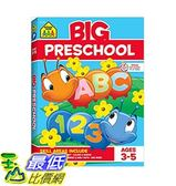 大學前班練習冊 School Zone - Big Preschool Workbook - Ages 4 and Up, Colors, Shapes, Numbers 1-10