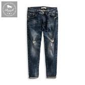 【Roush】高磅數經典藍色破壞水洗牛仔褲 - 【5390】