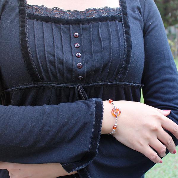 紅瑪瑙手鍊 設計師經典-平安扣小圓滿 石頭記