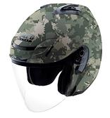 【東門城】LUBRO AIR TECH 數位迷彩 (綠) 半罩式安全帽