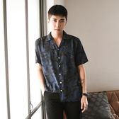花襯衫男士威夷風沙灘短袖襯衣港風免燙帥氣寬鬆潮流半袖    蘑菇街小屋