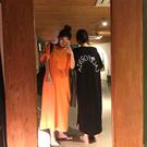 睡裙夏季韓國個性時尚長款過膝睡裙女寬鬆大碼背印花家居服睡衣女 雲朵走走