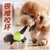 狗狗毛絨玩具小狗磨牙耐咬發聲幼犬玩具球解悶神器寵物玩具【宅貓醬】