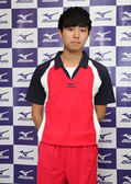 MIZUNO美津濃 男排球衣(紅*白*深藍XL/XXL) 含棉成分 質感舒適 立領運動服 排球服 運動排汗衣