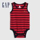 Gap嬰兒 布萊納系列 純棉無袖包屁衣 691241-紅藍條紋