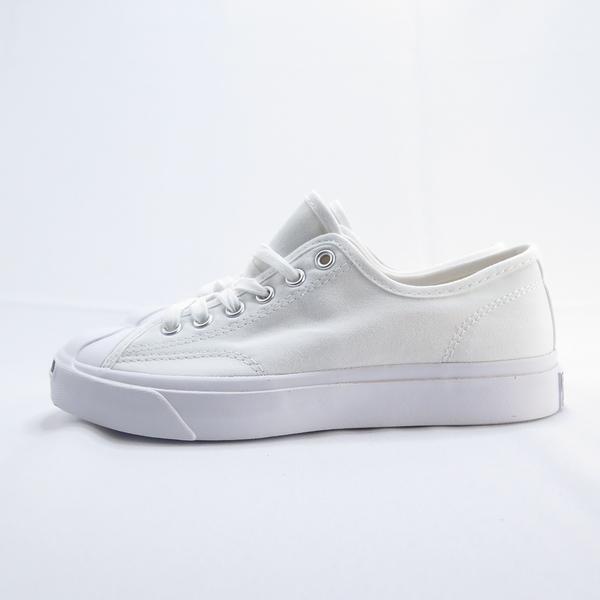 Converse Jack Purcell 開口笑 帆布鞋 164057C 女款男碼 白色【iSport愛運動】
