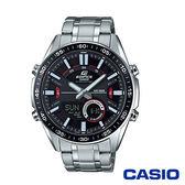 CASIO卡西歐 狂野致命計時碼錶雙顯男腕錶-黑x46mm EFV-C100D-1A