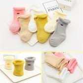 嬰兒襪子秋冬純棉加厚0-3-6-12個月新生兒男女童寶寶保暖1-3幼兒〖米娜小鋪〗