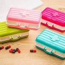 ✭米菈生活館✭【M159】迷你手提行李箱藥盒 六格 藥片 置物 分格 旅行 隨身 飾品 耳環 項鍊