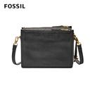 FOSSIL Campbell 黑色真皮多夾層真皮立體小方包 ZB7264001