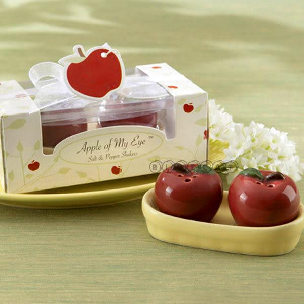 【BlueCat】婚禮小物 APPLE EYE白雪公主平安紅蘋果造型調味罐禮盒(1組2入)