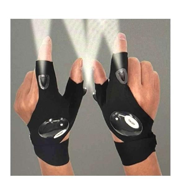 [9美國直購] 附燈工作手套 LED Flashlight Glove Outdoor Fishing Gloves 適用釣魚 跑步 黑暗處維修