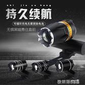 自行車燈 自行車燈車前燈騎行裝備山地車LED車把燈USB可充電強光手電筒配件 歐萊爾藝術館