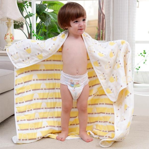 嬰兒浴巾純棉紗布洗澡新生兒毛巾被子寶寶蓋毯抱被吸水兒童空調被【無趣工社】