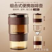便攜細口壺不銹鋼濾網過濾杯咖啡杯迷你手沖咖啡壺套裝消費滿一千現折一百